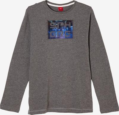 s.Oliver Shirt in blau / graumeliert, Produktansicht
