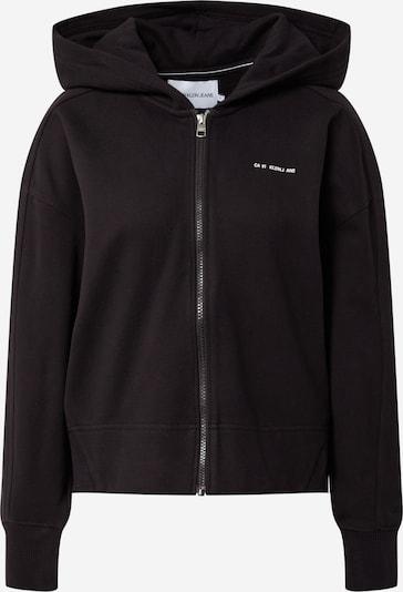 Calvin Klein Jeans Veste de survêtement en noir, Vue avec produit