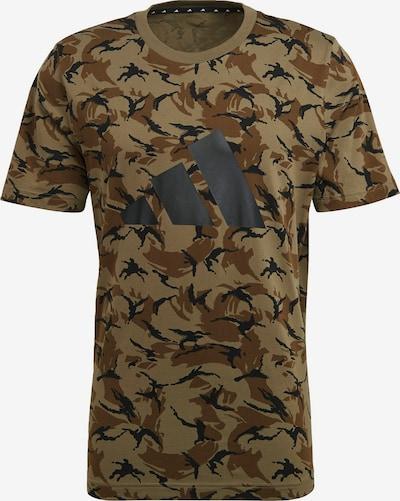 ADIDAS PERFORMANCE Functioneel shirt in de kleur Bruin / Kastanjebruin / Antraciet / Zwart / Wit, Productweergave