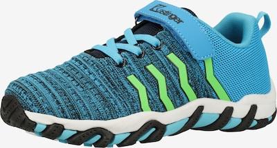 Kastinger Wanderschuhe in blau / neongrün / schwarz, Produktansicht