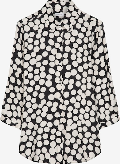 SEIDENSTICKER Hemdbluse 'Schwarze Rose' in schwarz / weiß, Produktansicht
