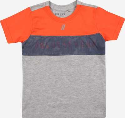 BLUE SEVEN T-Shirt in taubenblau / grau / orange, Produktansicht
