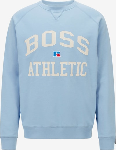 BOSS Casual Sweatshirt 'Stedman Russell Athletic' in de kleur Blauw / Lichtblauw / Rood / Wit, Productweergave
