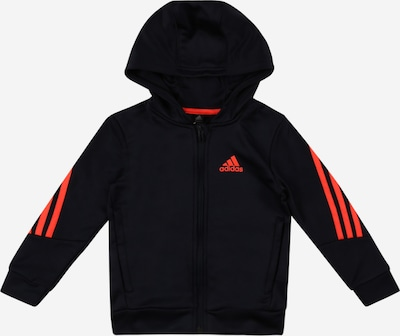 Bluză cu fermoar sport ADIDAS PERFORMANCE pe portocaliu / negru, Vizualizare produs