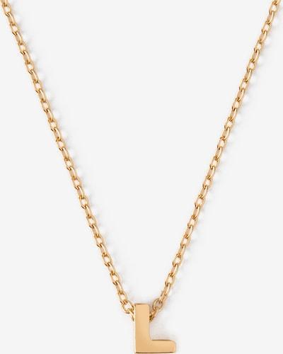 Orelia Chaîne 'Initial' en or, Vue avec produit