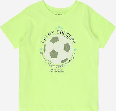 BLUE SEVEN T-Shirt in hellblau / neongrün / schwarz / weiß, Produktansicht