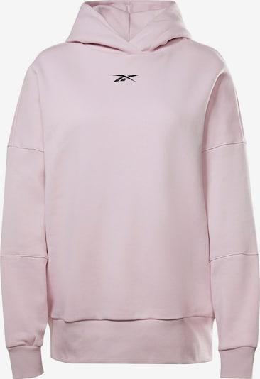 Reebok Sport Sportsweatshirt in hellpink / schwarz, Produktansicht