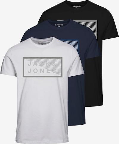 Jack & Jones Junior T-Shirt 'Shawn' en bleu / bleu marine / gris / noir / blanc: Vue de face