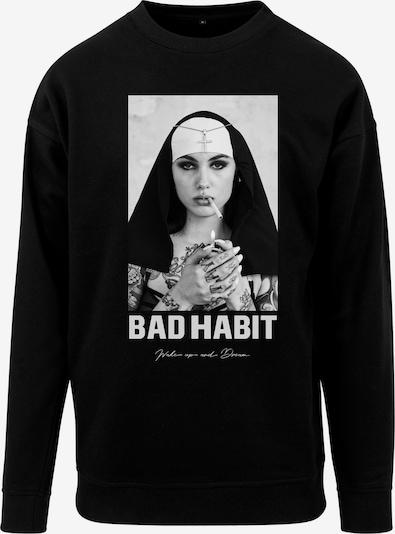 Mister Tee T-Shirt 'Bad Habit Crewneck' en noir, Vue avec produit