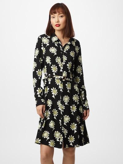 Rochie tip bluză 'Hayley' Fabienne Chapot pe kaki / negru / alb, Vizualizare model