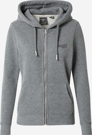 Superdry Zip-Up Hoodie in mottled grey, Item view