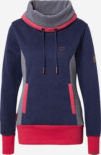 Alife and Kickin Sweater majica 'Jilly' u morsko plava / siva melange / roza, Pregled proizvoda