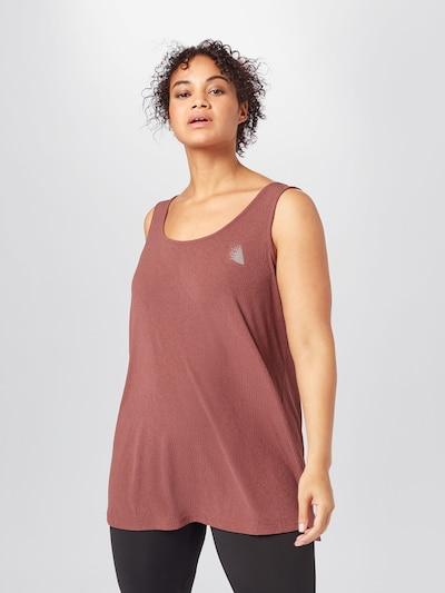 Sportiniai marškinėliai be rankovių 'NADIA' iš Active by Zizzi , spalva - ruda: Vaizdas iš priekio
