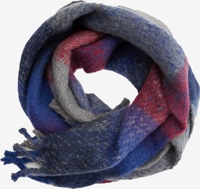 MANGO MAN Écharpe 'Suecia' en bleu foncé / gris / rouge foncé, Vue avec produit