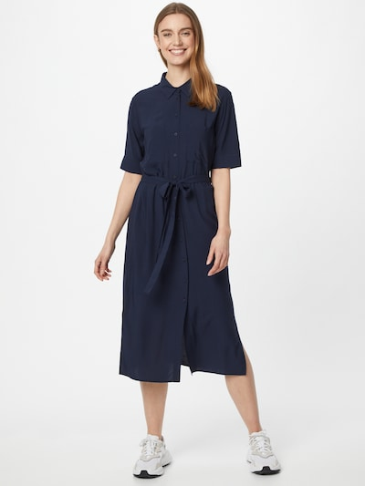 TOM TAILOR DENIM Blusenkleid in marine, Modelansicht