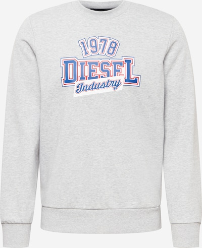DIESEL Sweat-shirt 'GIRK' en bleu / gris / rouge / blanc, Vue avec produit