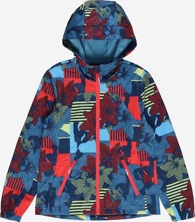 ICEPEAK Outdoorová bunda 'KEOTA' - námornícka modrá / modrosivá / svetlomodrá / svetložltá / ohnivo červená: Pohľad spredu