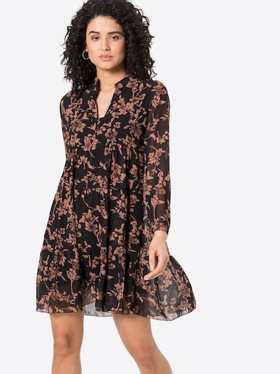 ZABAIONE Kleid 'Aurelia' in hellbraun / schwarz, Modelansicht