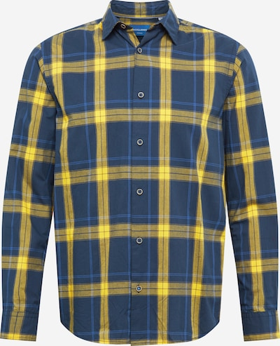 JACK & JONES Hemd 'JORAUDIO' in dunkelblau / senf, Produktansicht