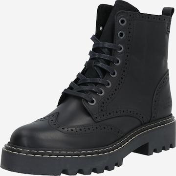 juoda BULLBOXER Suvarstomieji kulkšnis dengiantys batai