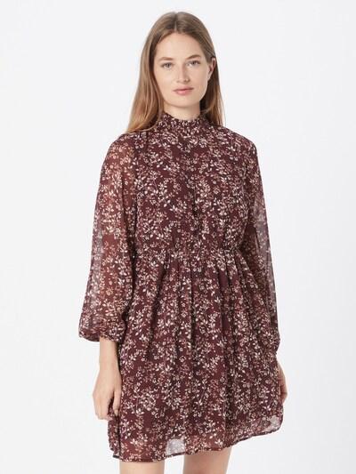 VERO MODA Kleid 'Vilde' in weinrot / schwarz / weiß, Modelansicht