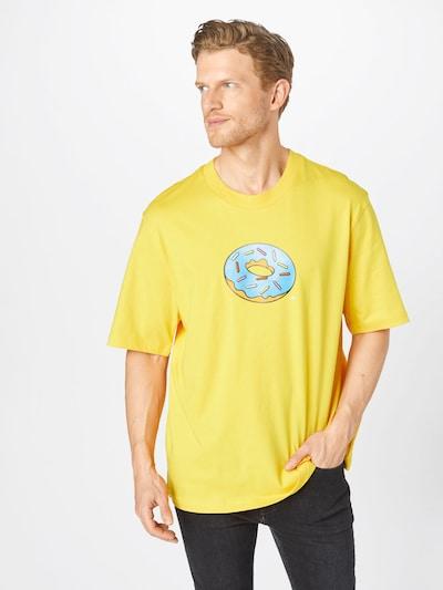 ADIDAS ORIGINALS Tričko 'SMPS DOH' - nebesky modrá / žltá / ružová / červená / biela: Pohľad spredu