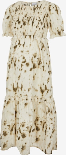 MAMALICIOUS Kleid in khaki / weiß, Produktansicht