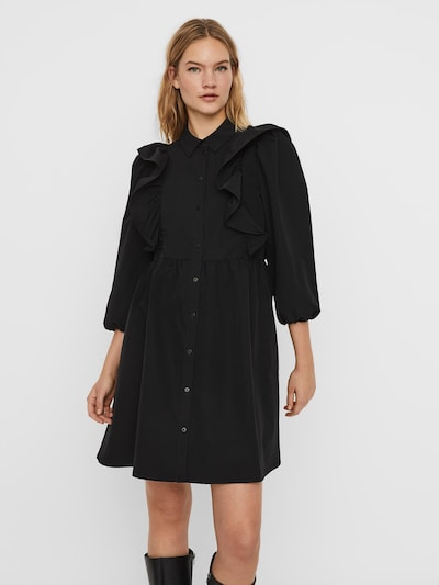 Rochie tip bluză VERO MODA pe negru, Vizualizare model