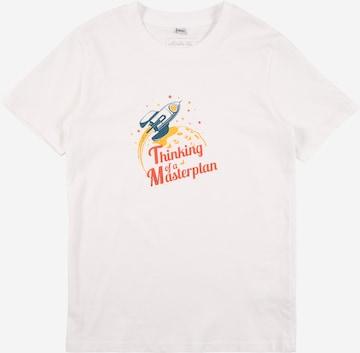 T-Shirt 'Thinking Of A Masterplan' Mister Tee en blanc