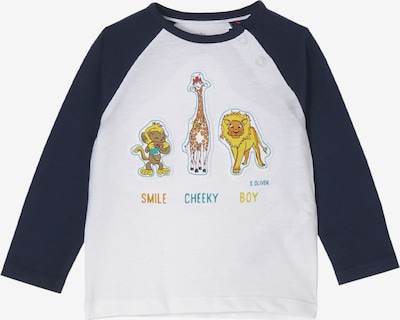 s.Oliver Shirt in de kleur Navy / Turquoise / Geel / Wit, Productweergave