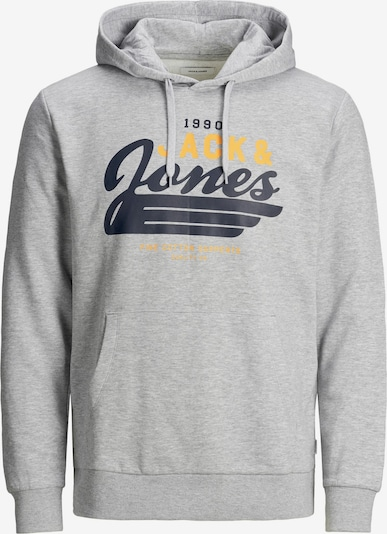 Jack & Jones Plus Hoodie in navy / gelb / hellgrau, Produktansicht