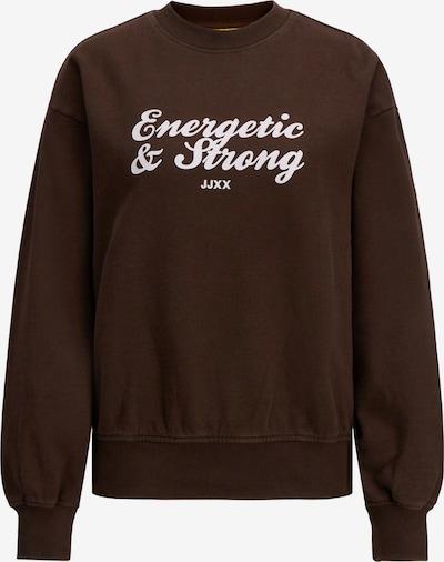 JJXX Sweatshirt 'JXBEATRICE' in dunkelbraun / weiß, Produktansicht