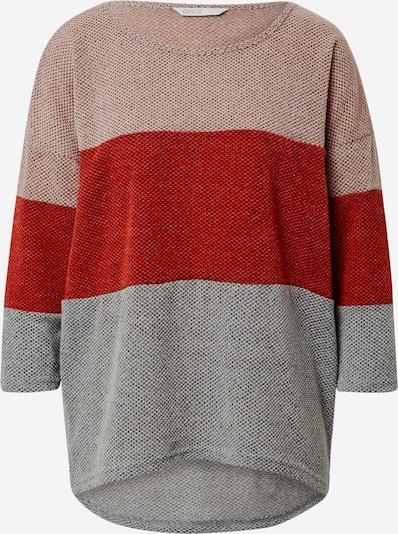 ONLY Tričko 'ALBA' - šedá / růže / červená, Produkt