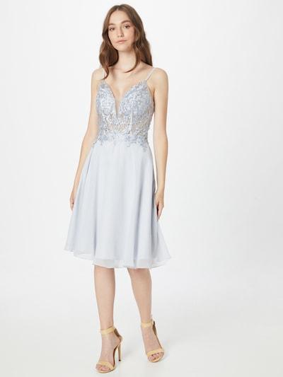 LUXUAR Robe de cocktail en azur, Vue avec modèle
