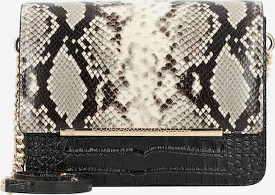 roberto cavalli Milano Umhängetasche Leder 24 cm in beige / schwarz, Produktansicht