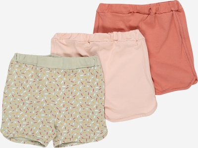 NAME IT Shorts 'BARBEL' in pastellgrün / lachs / pastellpink, Produktansicht