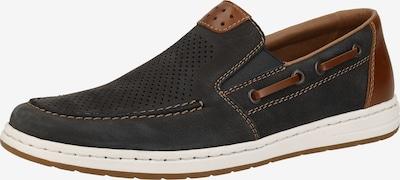 RIEKER Zapatillas en azul noche / marrón, Vista del producto