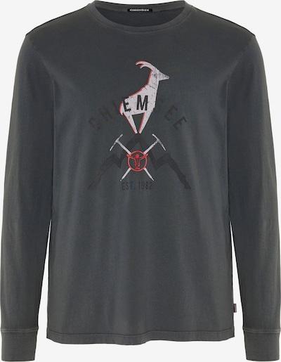 CHIEMSEE Functioneel shirt 'BROAD PEAK' in de kleur Antraciet / Rood / Wit, Productweergave