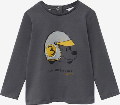 MANGO KIDS Shirt 'CASCO' in de kleur Duifblauw / Mosterd / Grijs / Zwart: Vooraanzicht