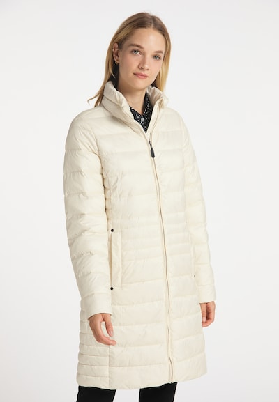 DreiMaster Klassik Mantel in creme, Modelansicht