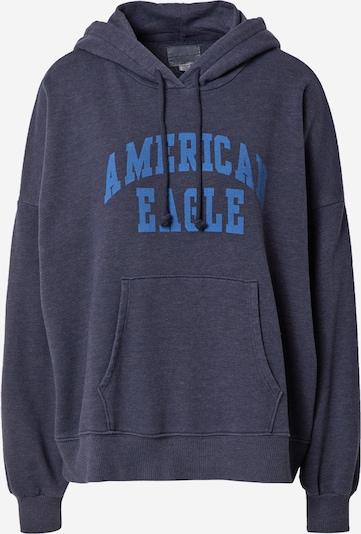 American Eagle Sportisks džemperis, krāsa - tumši zils / debeszils, Preces skats
