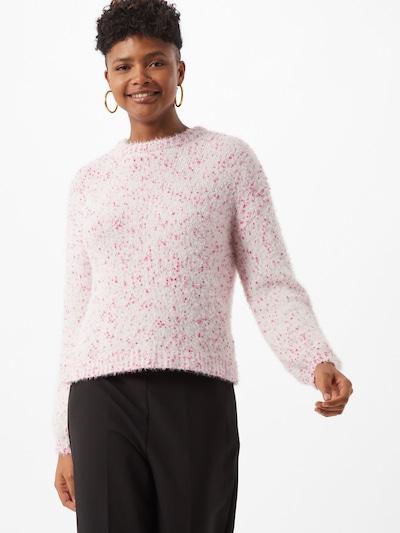 VILA Pullover in pink / weiß: Frontalansicht