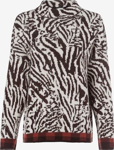 Olsen Pullover in schoko / weiß, Produktansicht