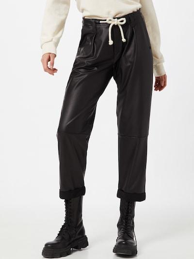 Pantaloni con pieghe 10Days di colore nero, Visualizzazione modelli