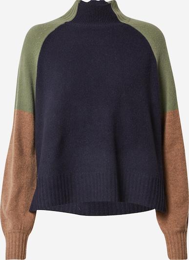Pullover Whistles di colore beige / blu scuro / oliva, Visualizzazione prodotti