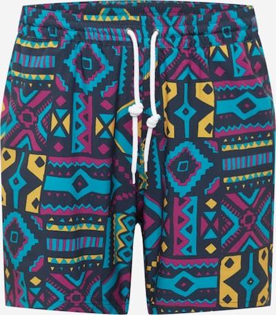 Pantaloni 'Crazy Fresh' Iriedaily pe navy / albastru deschis / galben auriu / mov închis, Vizualizare produs