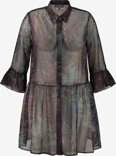 Ulla Popken Long-Bluse in schwarz, Produktansicht