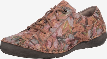 JOSEF SEIBEL Athletic Lace-Up Shoes 'Fergey' in Orange