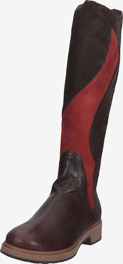 THINK! Stiefel in dunkelbraun / dunkelrot, Produktansicht