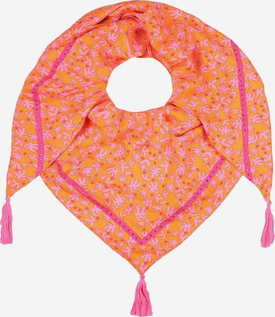 Zwillingsherz Tuch in orange / rosa, Produktansicht